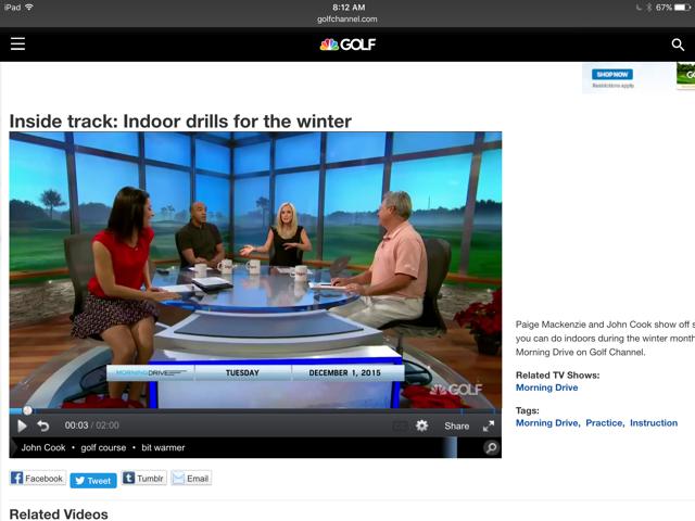 Golf show video